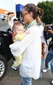 Jessica Alba, Cash Warren and Their Daughter Honor Leaving Toast Restaurant After Having Lunch Together