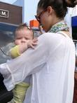 Jessica Alba, Cash Warren, their daughter Honor leaving Toast restaurant after having lunch together