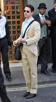 Funnyman Jimmy Carr leaving the Ivy Restaurant, wearing...