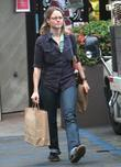 Jodie Foster grabs a drink at Starbucks before...