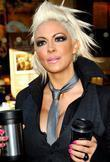 Glamour model Jodie Marsh visits Starbucks to launch the 'Bring Your Own Mug' campaign
