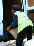 Boxes of party lights are delivered to the house of Jonathan Ross on the day it is announced that he has been suspended by the BBC