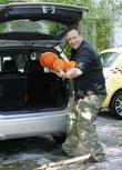 Friends Of Jonathan Ross Deliver Pumpkins To His House On The Day It Is Announced That He Has Been Suspended By The Bbc