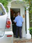 Mail is delivered to the house of Jonathan Ross on the day it is announced that he has been suspended by the BBC