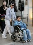 Katie Price, Harvey Price at The Grove. They eat lunch at The Cheesecake Factory and then stop at Victoria's Secret.
