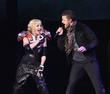 Madonna and Justin Timberlake perform at the Dodgers...