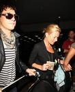 Kate Moss with her boyfriend Jamie Hince arriving...