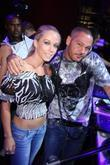 Kendra Wilkinson and DJ R.O.B. Kendra Wilkinson hosts...