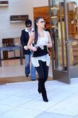 Kim Kardashian, her mother Kris Jenner leaving the Louis Vuitton store in Beverly Hills