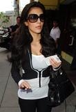Kim Kardashian gets a manicure and pedicure in...