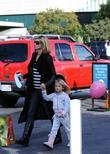 Heidi Klum and daughter Leni leaving The Grove...
