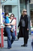 Heidi Klum and son Henry leaving The Grove...