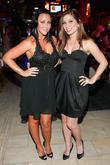 Michelle Heaton and Nikki Sanderson at Krystle nightclub
