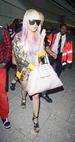 Lady Gaga, Aka Joanne Stefani Germanotta and Arriving At Heathrow Airport