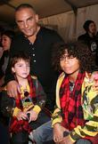 Christian Audigier with his son Dylan Audigier and...