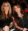 Tish Cyrus and Miley Cyrus Mercedes-Benz LA Fashion...