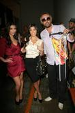 Kim Kardashian, Kourtney Kardashian and Laurent Planeix
