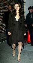 Amy Brenneman and David Letterman