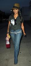 Lauren London Is In High Spirits As She Shops At The Trendy Robertson Boulevard In West Hollywood