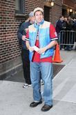 Adam Sandler outside Ed Sullivan Theatre for the...
