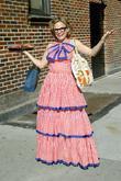 Amy Sedaris outside the Ed Sullivan Theatre for...