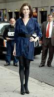 Anne Hathaway and David Letterman