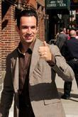 Helio Castroneves outside the Ed Sullivan Theater for...