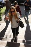 Lindsay Lohan and Samantha Ronson leaving a Scientology...