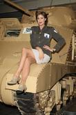 Lisa Snowdon attends a Photocall to promote the National Lottery's investment in projects that honour war veterans