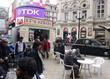 Fiming on location of new movie 'London Dreams' Picadily Circus