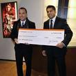 David Furnish, Karim Karsan A cheque for $75,000...