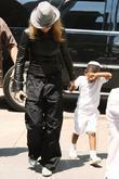 Madonna, adopted son David Banda visit the Kabbalah Center