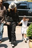 Madonna, adopted son David Banda visit the Kabbalah Center