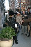 Madonna and David Banda outside the Manhattan Kabbalah Centre
