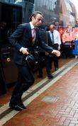 Manchester United player, Dimitar Berbatov arrives at Ewood...