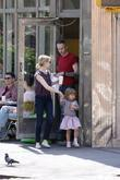 Michelle Williams, Matilda Ledger Out, About In Brooklyn Enjoying The Warm Weather. Matilda Gets A Lift From Her Mom and An Older Mystery Male.