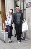 Matt Willis and A Heavily Pregnant Emma Griffiths Leaving The Bbc Radio One Studios