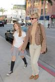 Melanie Griffith and Her Daughter Stella Banderas Arrive At A Medical Building On Bedford Boulevard In Beverly Hills