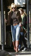 Melanie Griffith and Her Daughter Stella Banderas Seen Leaving Barneys New York In Beverly Hills.