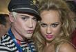 Designer Richie Rich and singer Caitlin Moe backstage...