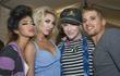 Designer Richie Rich and models backstage during Funkshion...