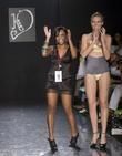 Keva swimwear designer Keva Johnson, left, and a...