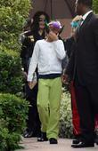 Michael Jackson and Paris Jackson leave a medical building in Beverly Hills