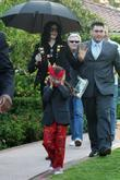 Michael Jackson and Prince Michael Jackson II aka Blanket leave a medical building in Beverly Hills