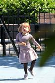 Matilda Ledger Enjoying A Sunny Day Playing At A Brooklyn Park With Her Mother