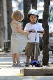 Matilda Ledger Goes For A Scooter Ride With Her Mother Michelle In Brooklyn