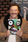 Julian Barratt of The Mighty Boosh  signs...