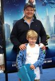 Andy Richter with his son Los Angeles premiere...