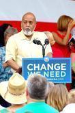 Alcee Hastings Senator Hillary Rodham Clinton speaks at...