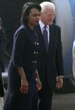 U.s. Secretary Of State Condoleezza Rice Arrives In New Delhi With Us Ambassador To India David Mumford To Discuss International Cooperation In The Investigation Into The Mumbai Attacks